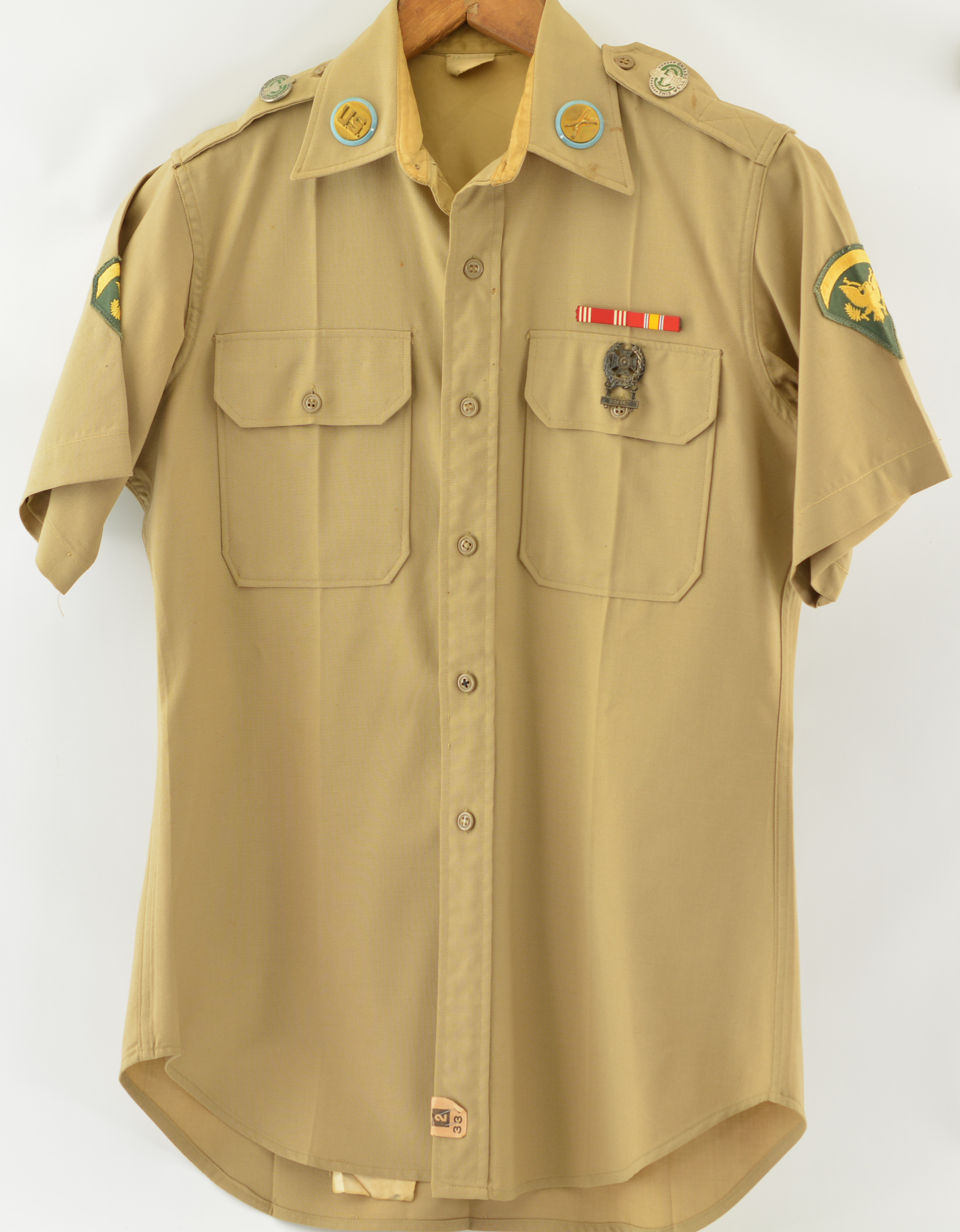 Vietnam Era U S  Army Uniform Shirt