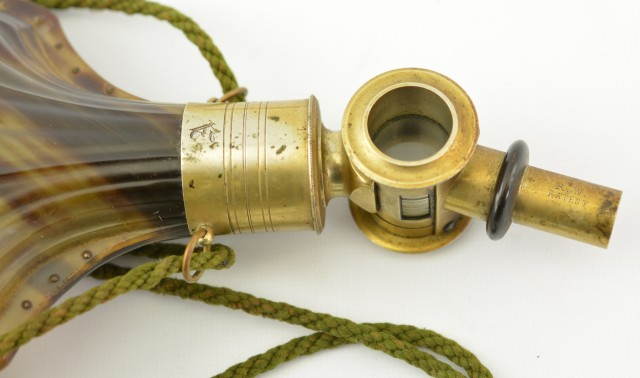 Horn Flask French RW Patent Mid-1800s Excellent