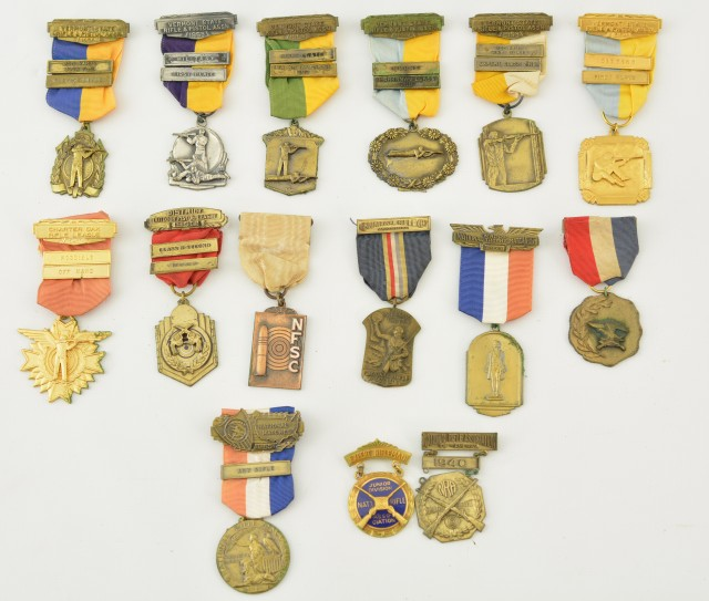 Collection of 15 Shooting Medals  1939-1965