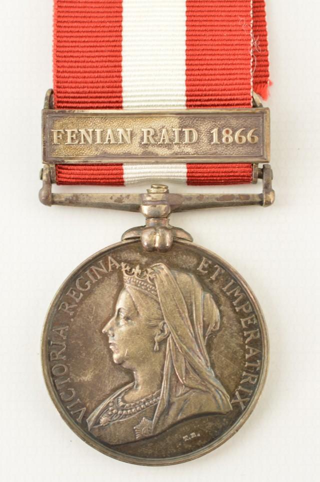 Named Canadian Fenian Raid Medal 1866