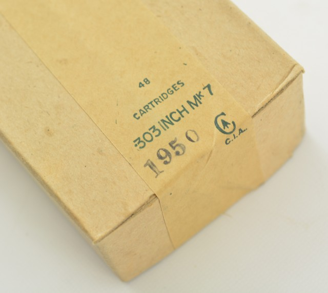 303 British Ammunition 1950s dated 48 Rnd original box