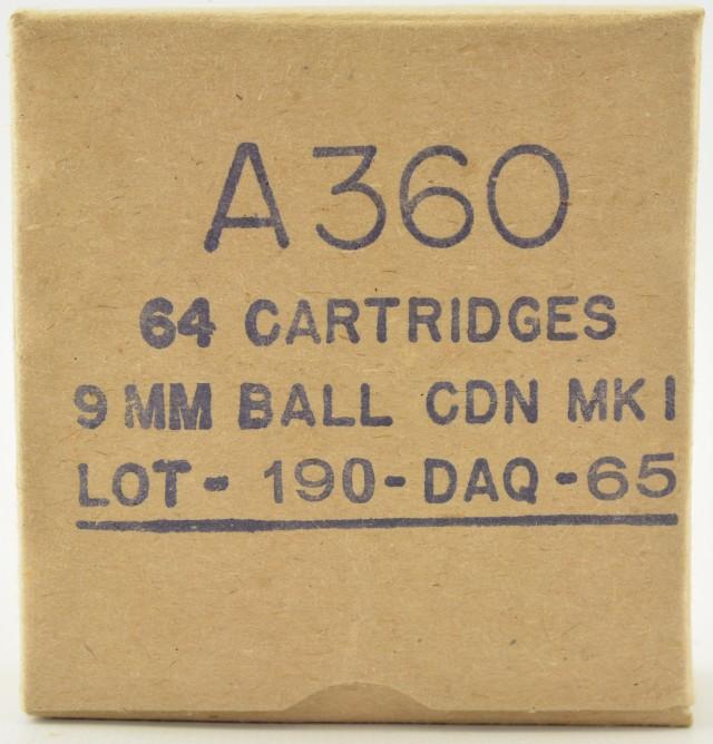 Canadian Dominion 9MM Nato Ammunition 64 Round Box