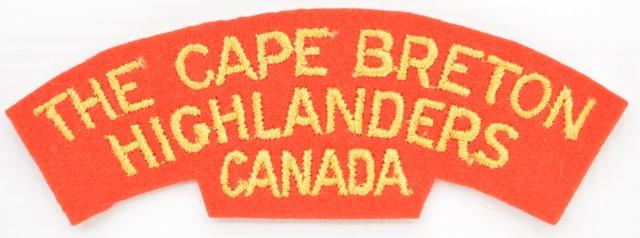 WWII Cape Breton Highlanders Patch