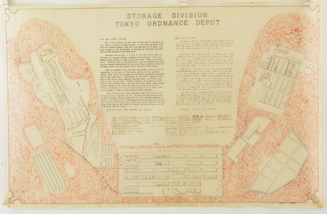 Silk Presentation Map U.S. Ordnance Depot