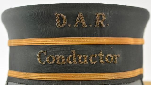 Railway conductors hat in box 1940s