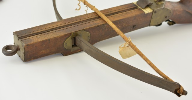 Antique European Crossbow with Goat's Foot Cocking Lever