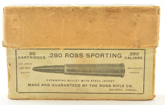 Lot of 2 Ross Rifle Empty Ammo Boxes- Rare 303 and 280 Caliber