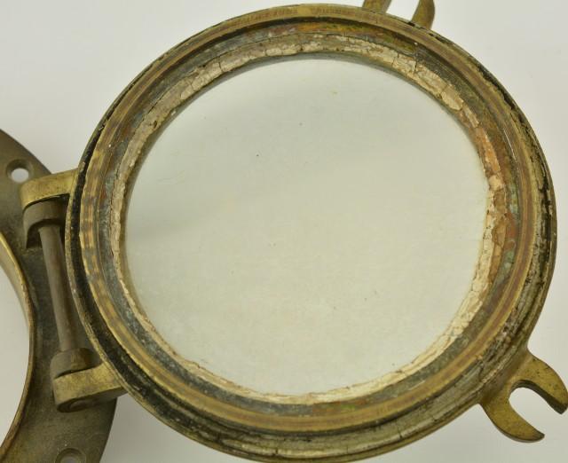 Antique Brass Ship's Port Hole