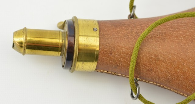 American Flask and Cap Co. Leather covered Flask