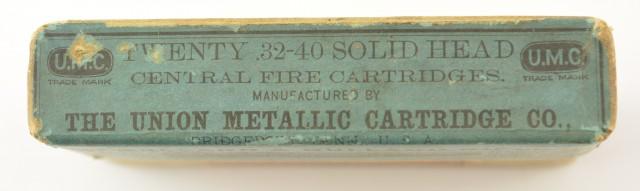 Rare Blue UMC .32-40 Ballard & Bullard  Empty Box
