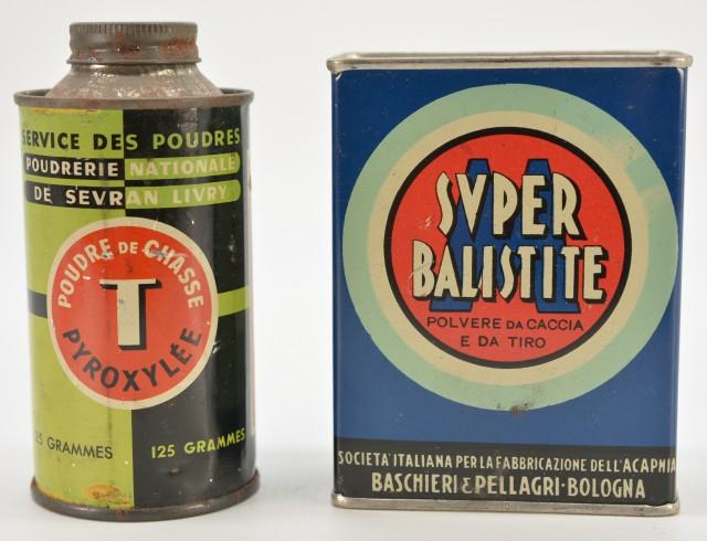 Lot of two Vintage Powder Tins