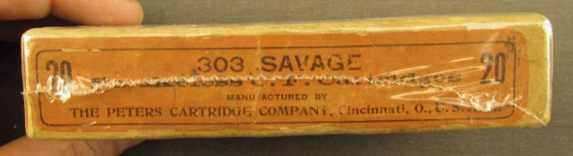 Empty Peters .303 Savage Box