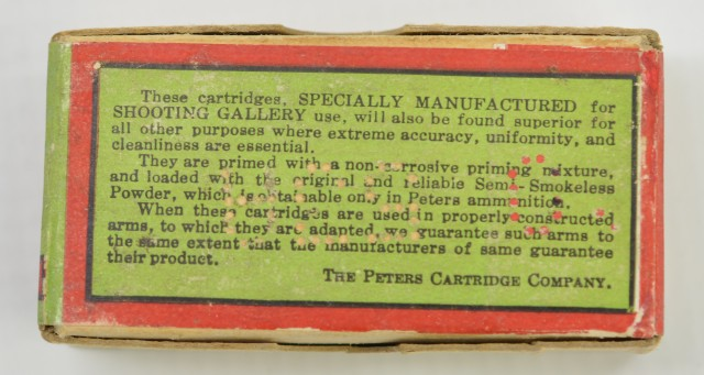 Peters .22 Short Ammo Box from 1920s