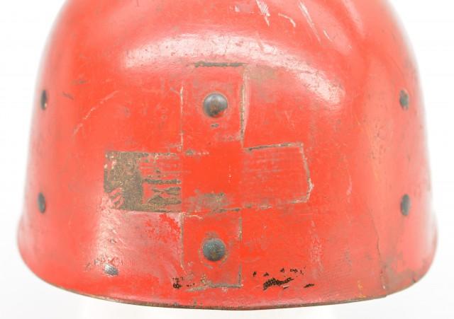 US Army WWII Helmet Liner used by a medic or nurse
