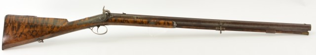 English Big Bore Percussion Sporting Rifle  Brunswick rifled by Harvey