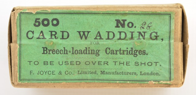 Antique F.Joyce & Co Card Wadding 28 Gauge