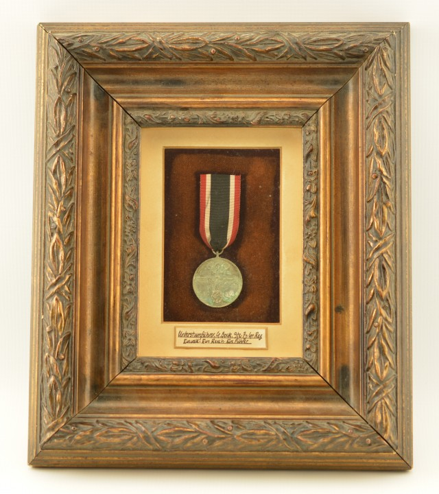 WW2 German Olympic Decoration in Frame