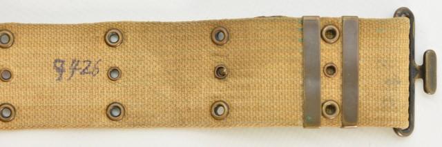 US Mounted Pistol Belt 1918 Dated Model 1912