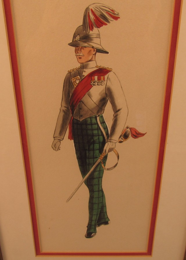 Pair of Scottish Military Paintings