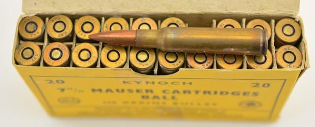 Kynoch 7mm Mauser Ammo 40 Rnds