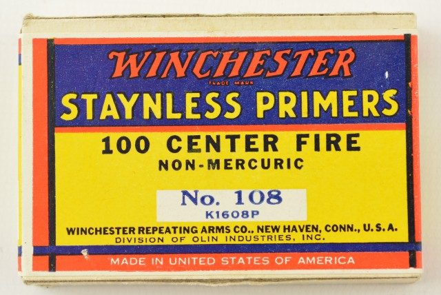 Vintage Winchester No 108 Staynless Primers