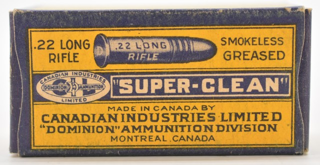 1930's CIL Super-Clean 22 LR Ammo