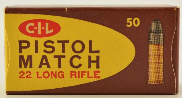 CIL 22LR Pistol Match Ammo