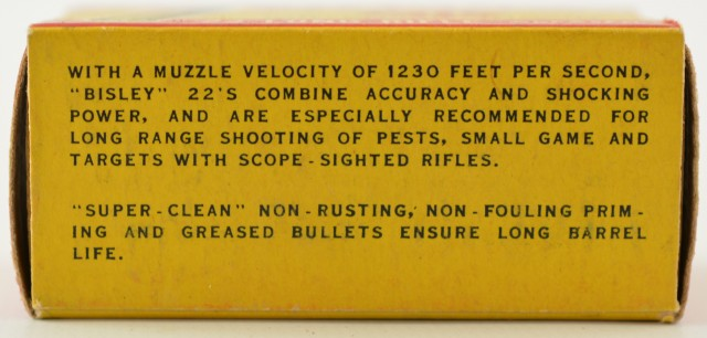 Scarce CIL Bisley 22 LR 1957 Issue Box