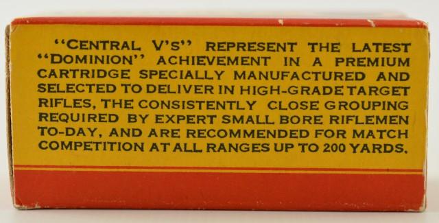 CIL Central V's 22 LR 1937 Box