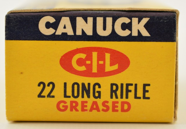 Canuck 22 LR Greased Ammo Late 1960s