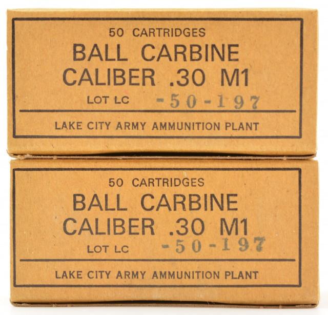 Lake City 30 Carbine Ammo 100 Rnds