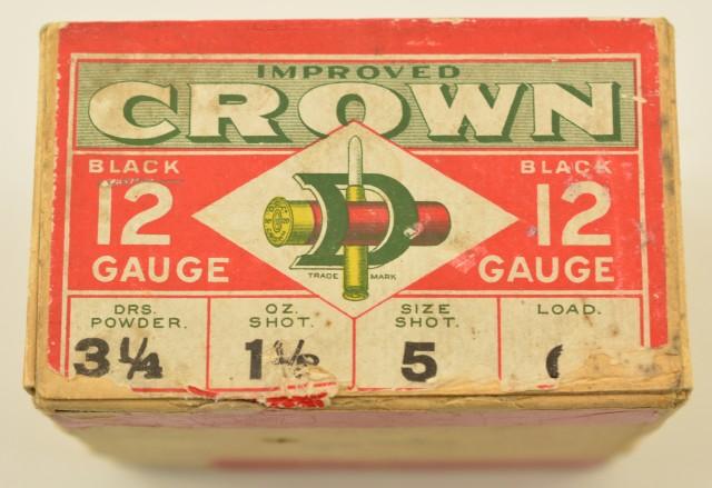 Vintage Dominion Improved Crown 12 GA Shotshells