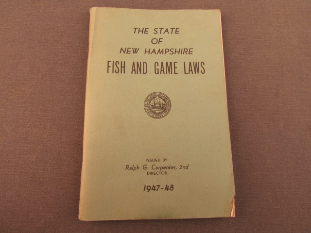 State of new hampshire fish game laws 1947 48 for Nh fish game