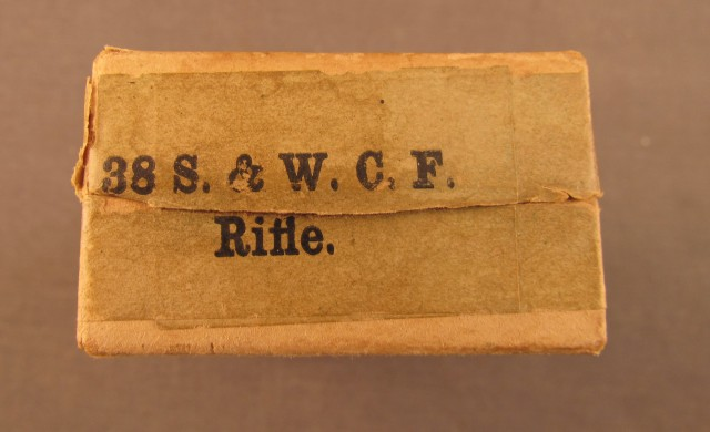 EMPTY Winchester 38 Smith & Wesson Rifle Box