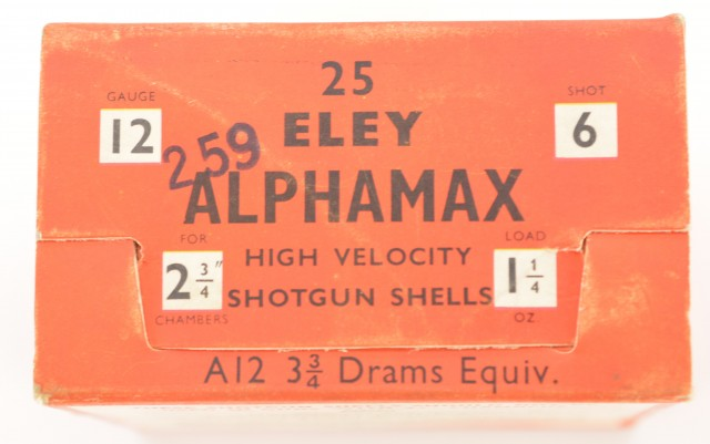 Eley Aphamax Empty Shotshell Box