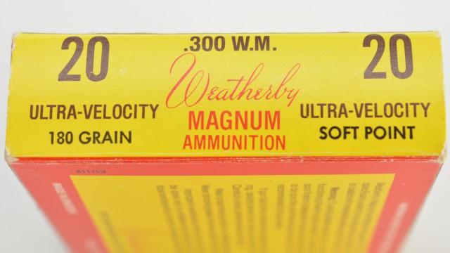300 Weatherby Magnum Ammo Vintage Tiger Box 20 rnds