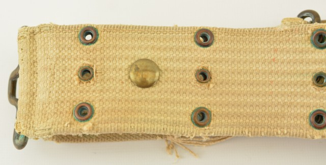 Scarce Mills Model 1912 Pistol Belt with Sword/Saber Hanger