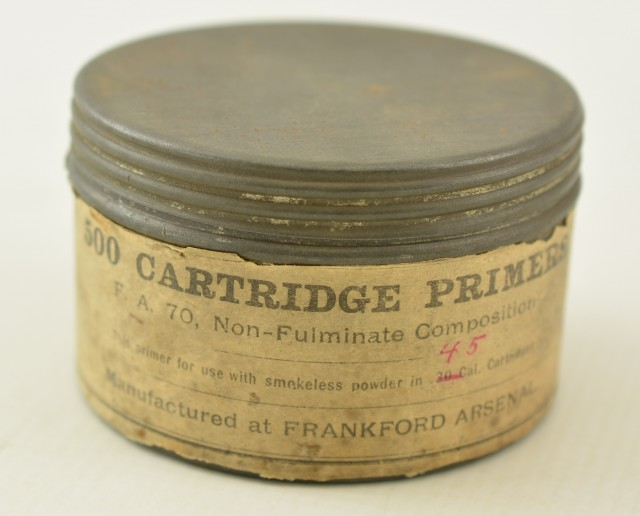 Rare Frankford Arsenal tin of Primers Dated 1919