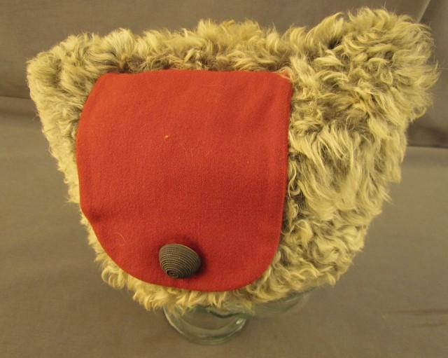 Rare Canadian Military Fur Wedge Cap and Photograph