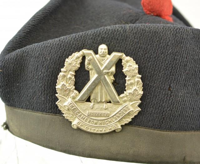 Glengarry with Cameron Highlanders of Ottawa Regimental Badge
