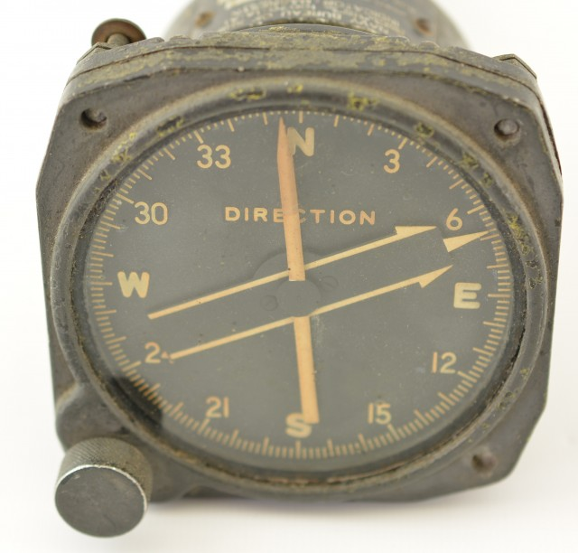USN Aircraft Gauge Direction Indicator by Bendix