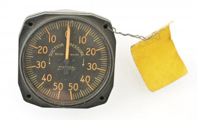 World War 2 USAF Aircraft Pressure Gauge