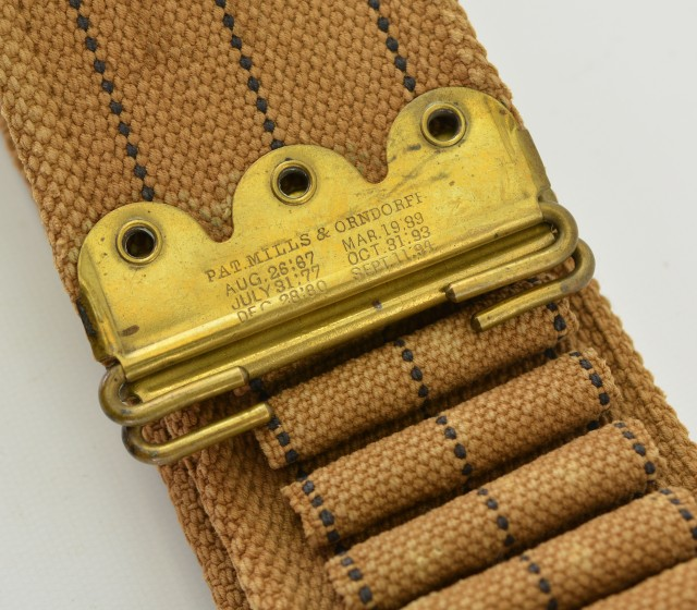 Spanish American War Militia Belt Mills 30 Caliber Cartridge
