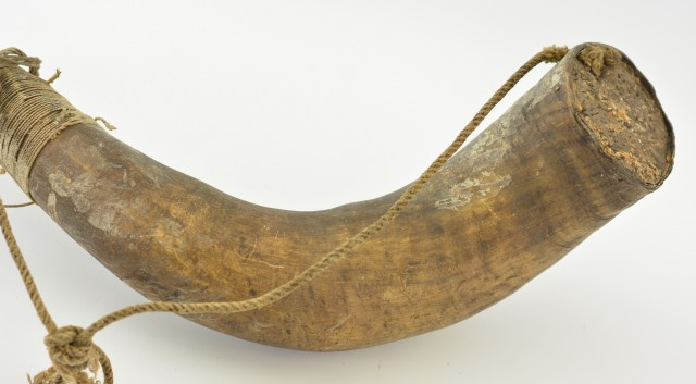Large Vintage Powder Horn