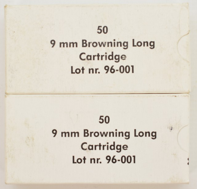 9MM Browning Long (9 X 20mm) Ammo 100rnds