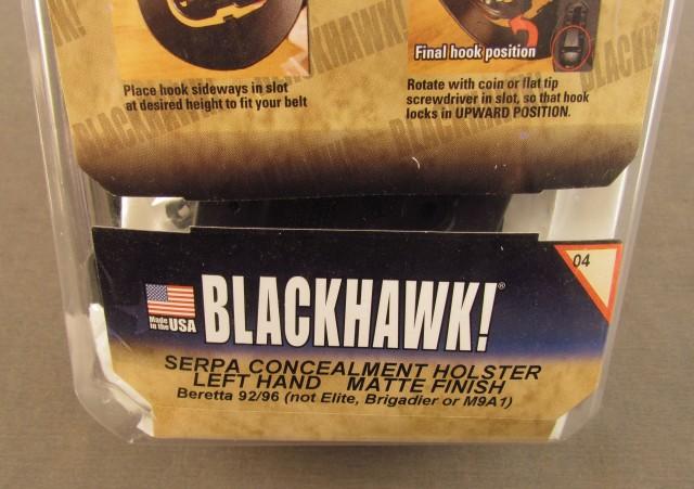 Blackhawk Holster Left Hand Beretta 92/96 Serpa CCW