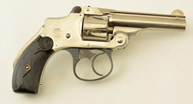 S&W Safety Hammerless Revolver 32 Nickel