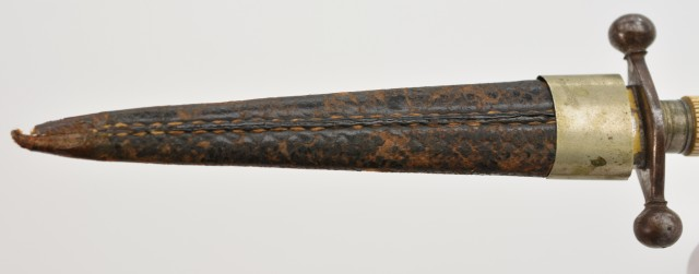 European Bone-Handled Dirk with Naval Motif