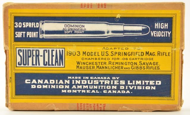 Scarce Factory Sealed Box Cil 1935 30-06 Ammo