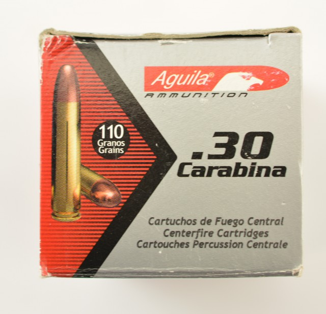 Aguila 30 Carbine Ammunition Lot of 4 Boxes 200 Rnds